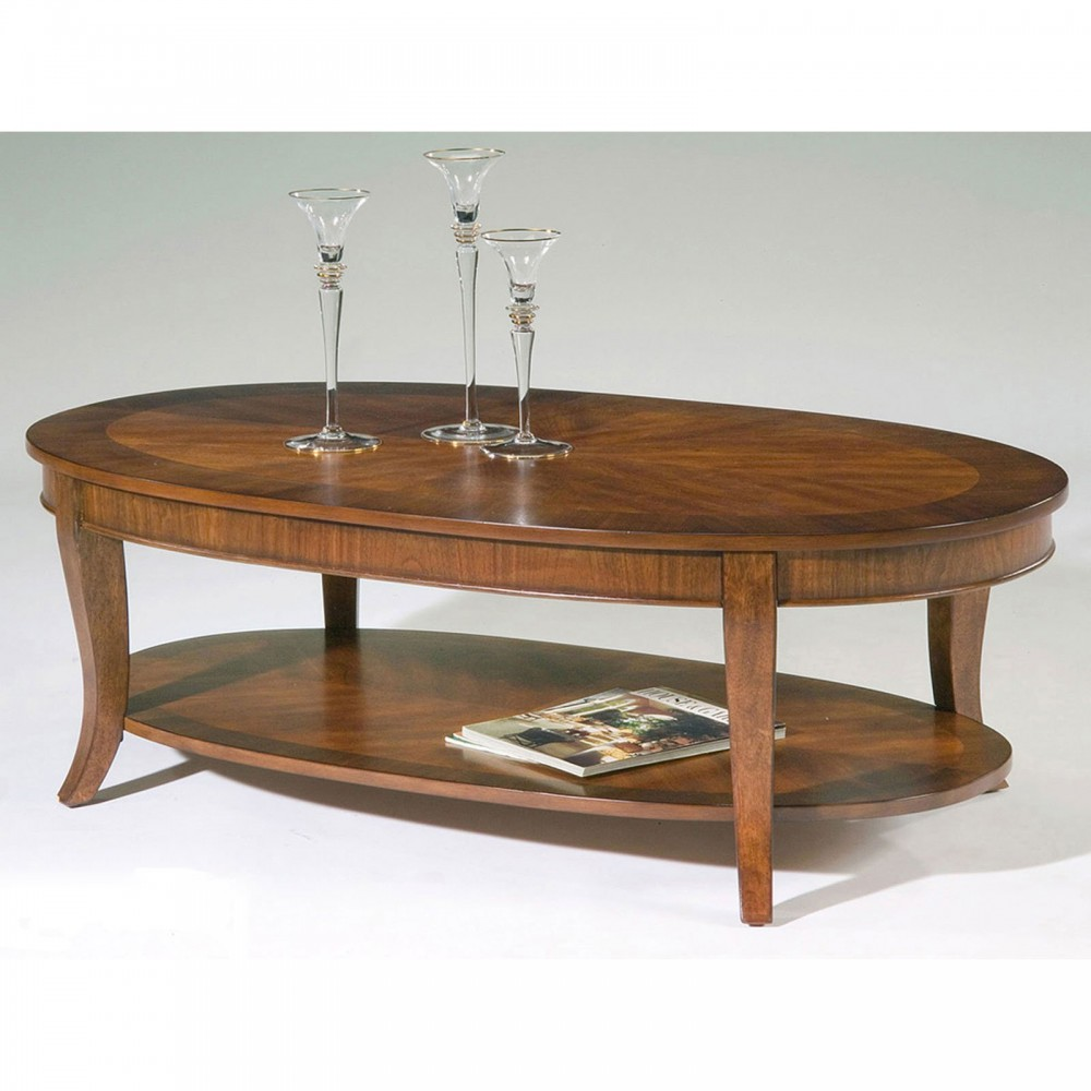 Image of: Design Oval Wood Coffee Table