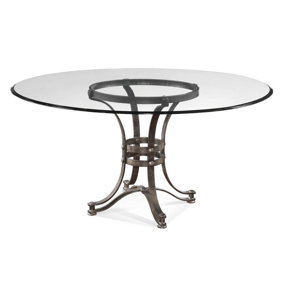 Picture of: Design Pedestal Table Base for Glass Top