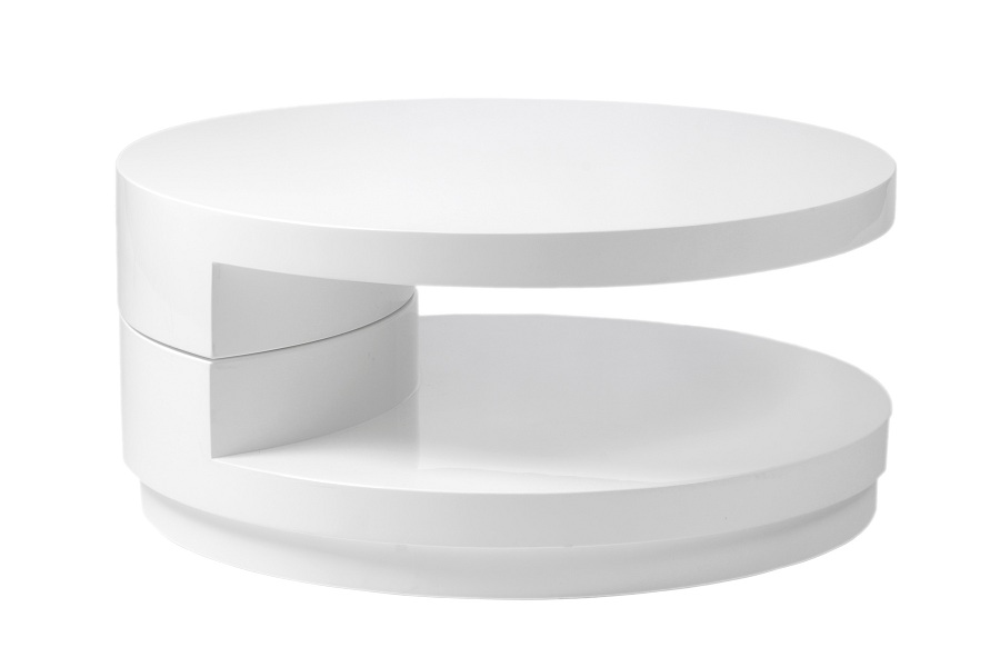 Image of: Design White Lacquer Coffee Table