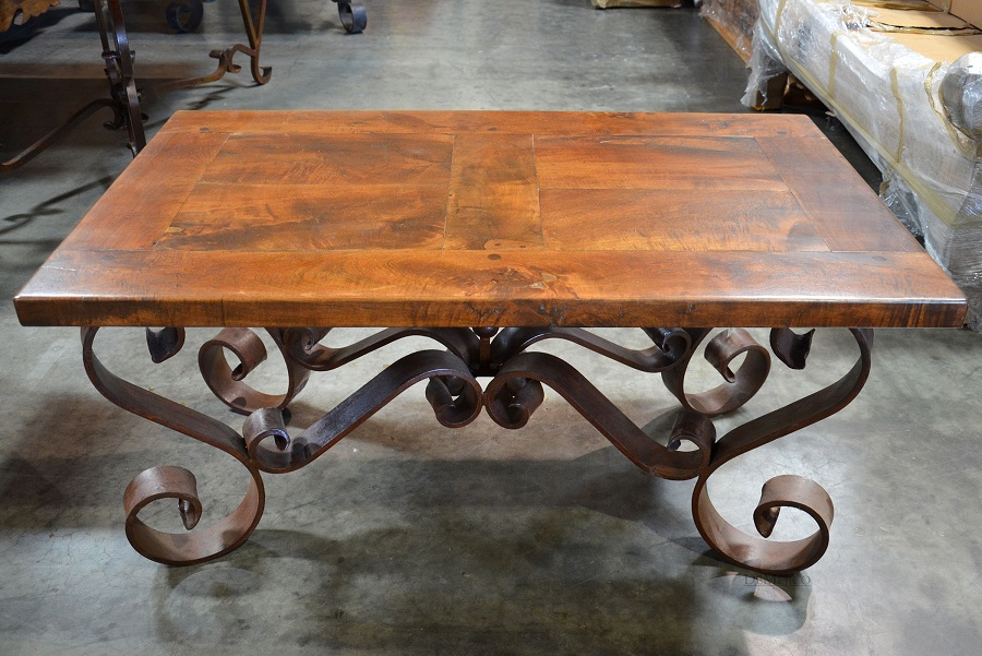 Image of: Design Wrought Iron Coffee Table