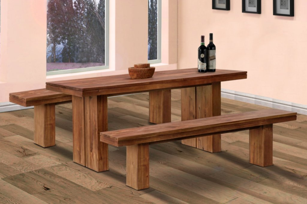 Image of: Dining Tables Bench Seat with Back