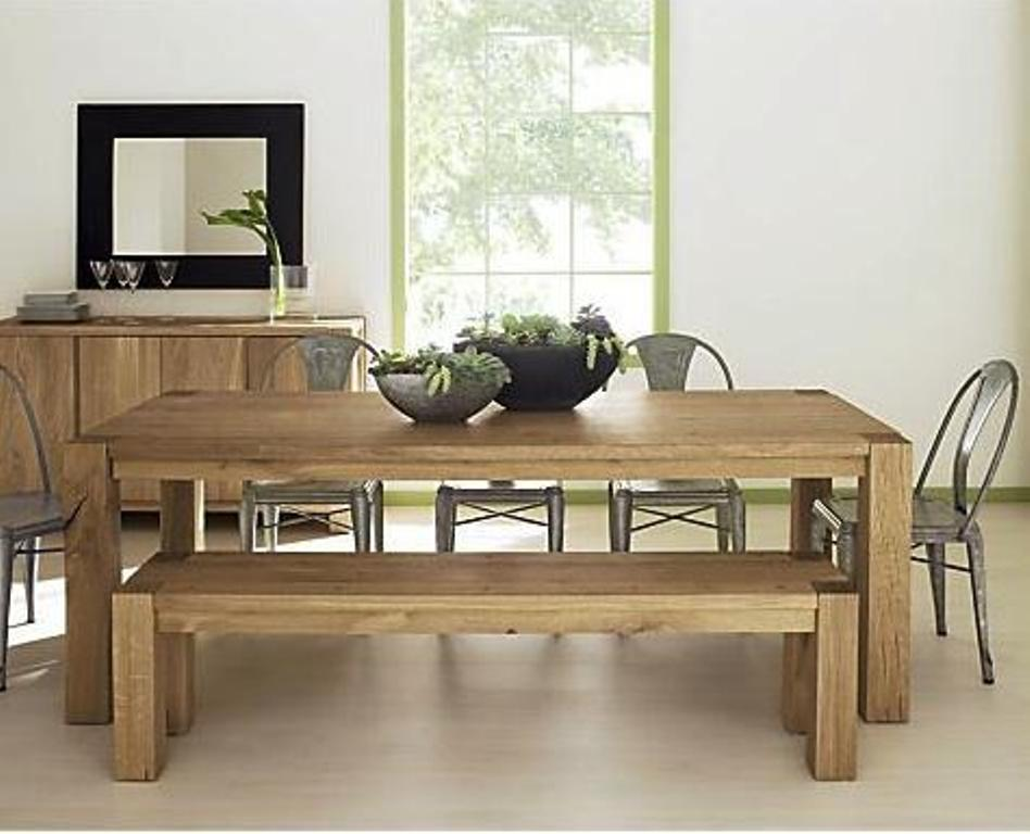 Picture of: Dining Table Bench with Backs