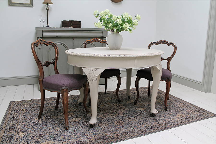 Distressed Dining Room Table Round