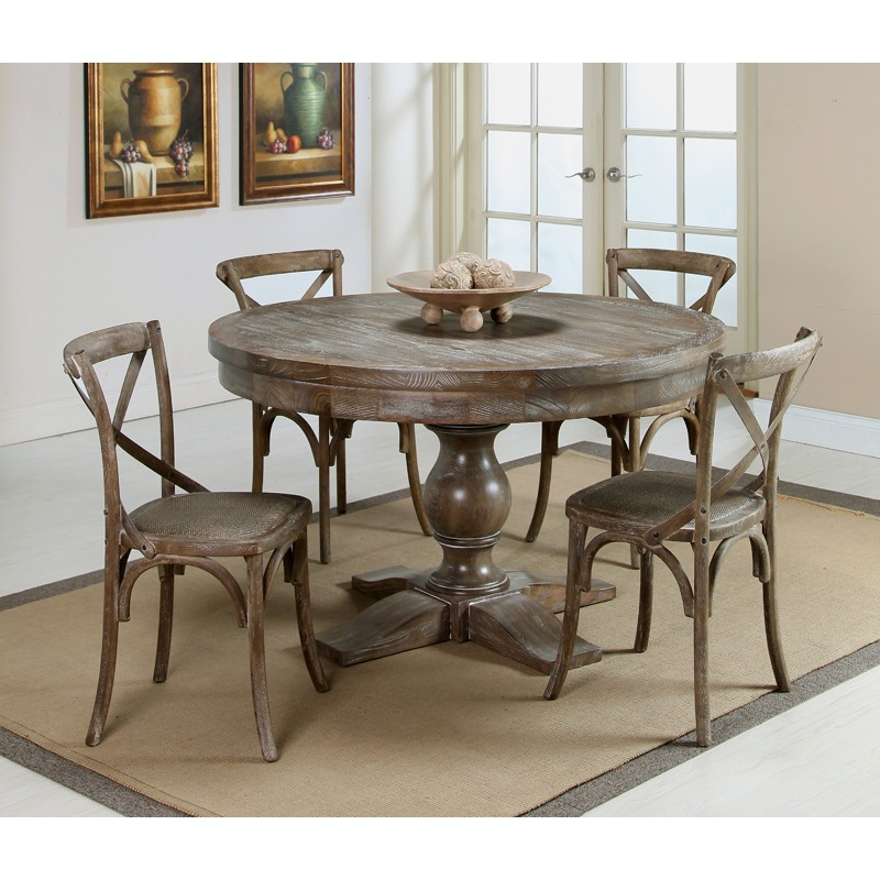 Image of: Distressed Dining Room Table Shapes