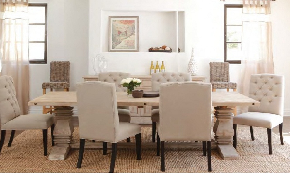 Image of: Distressed Dining Room Table Wood