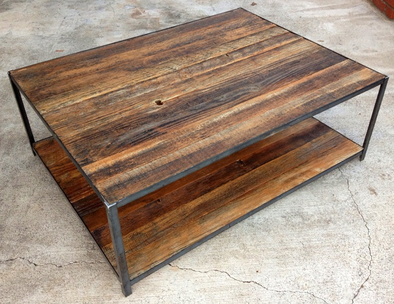 Image of: Distressed Wood Coffee Tables