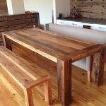 Distressed Wood Dining Room Table Design