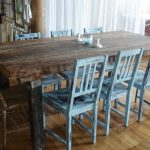 Distressed Wood Dining Room Table Furniture