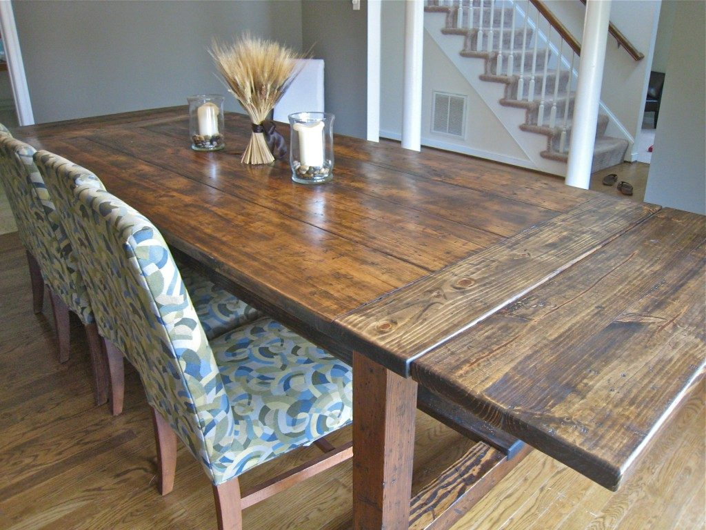 Image of: Distressed Wood Dining Room Table Home