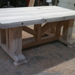 Distressed Wood Dining Table Design