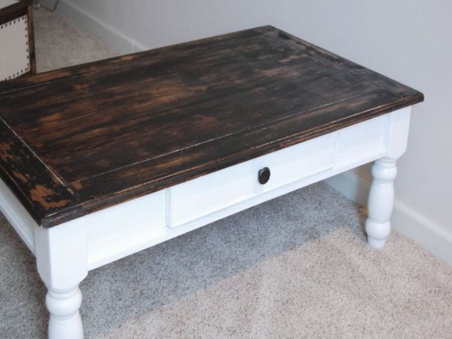 Picture of: Distressed coffee table for sale