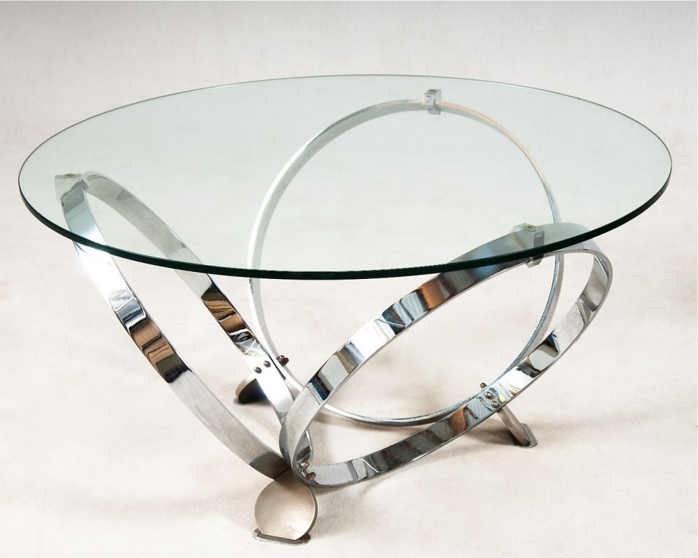 Image of: Elegant Brass Glass Coffee Table