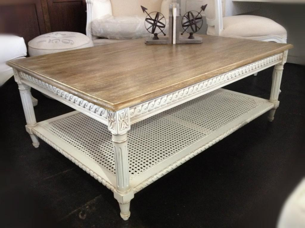 Picture of: Elegant Distressed Wood Coffee Table