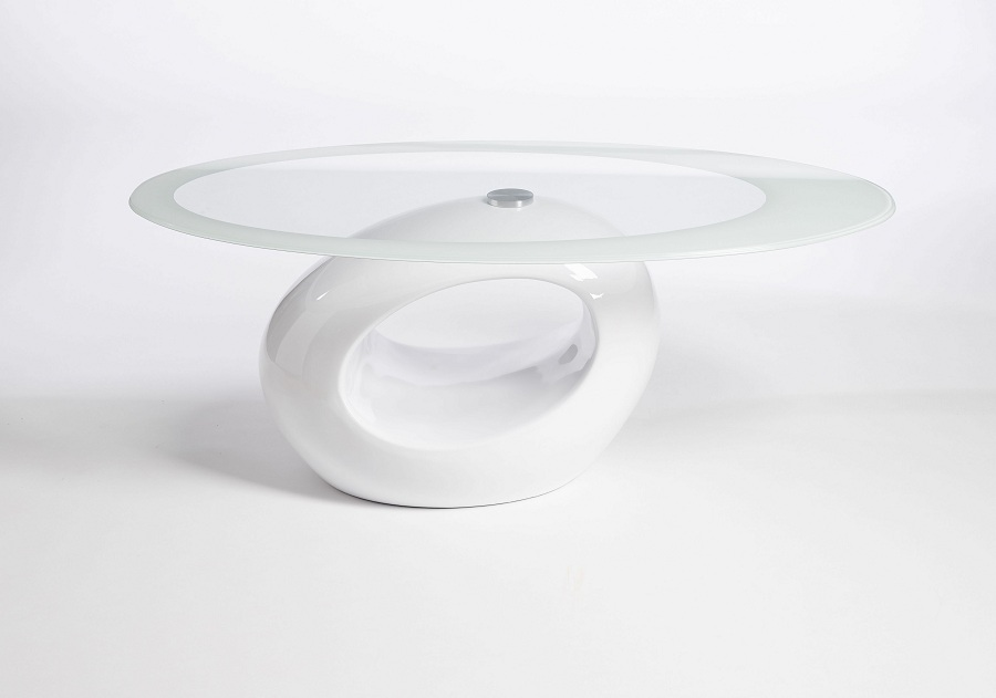 Ellegant White Lacquer Coffee Table