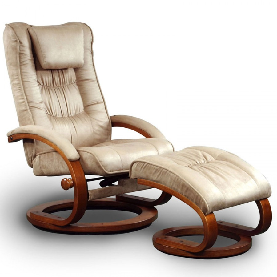 Image of: Ergonomic Recliner and Ottoman