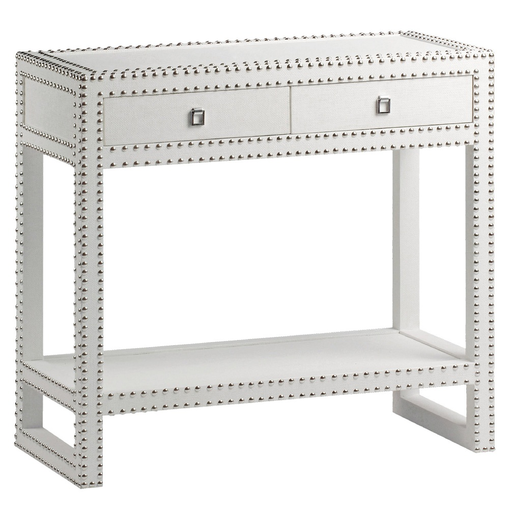 Excellent White Lacquer Console Table