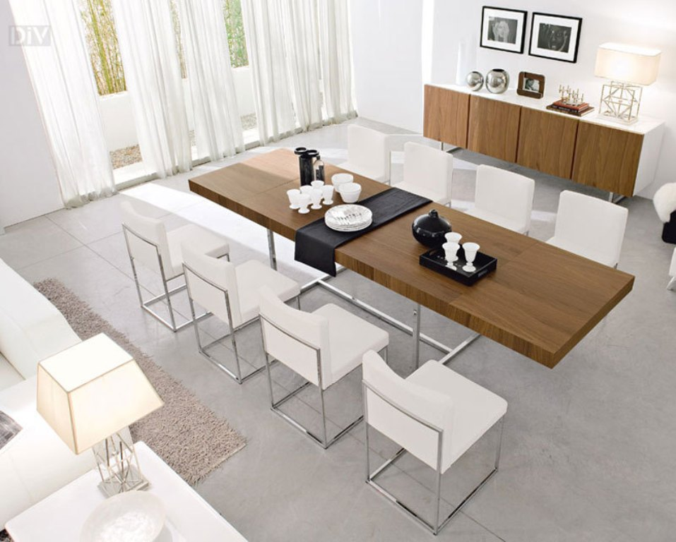 Image of: Expandable Dining Table Bench Seat