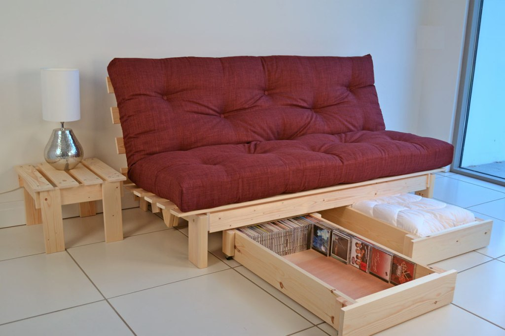 Image of: Famous Futon Beds with Storage