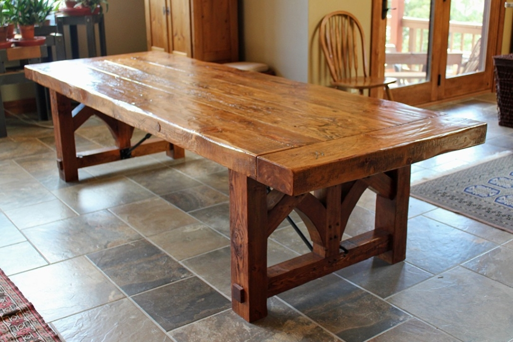 Picture of: Farmhouse dining room table plans Bench Plans