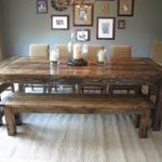 Farmhouse Dining Room Table Plans With Bench