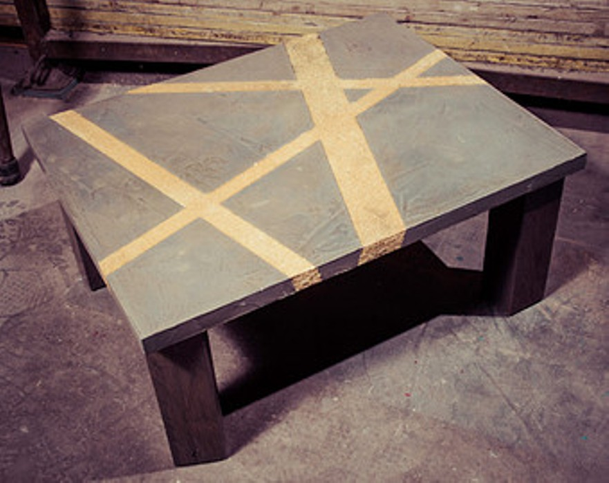 Image of: Faux cement coffee table