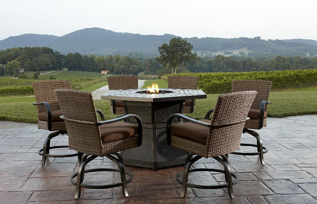 Image of: Fire pit Dining Table Set Deals