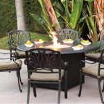 Fire Pit Dining Table Set Round Glass