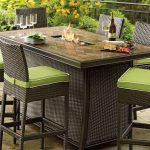 Fire Pit Dining Table Set Up
