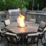 Fire Pit Dining Table Set For 2