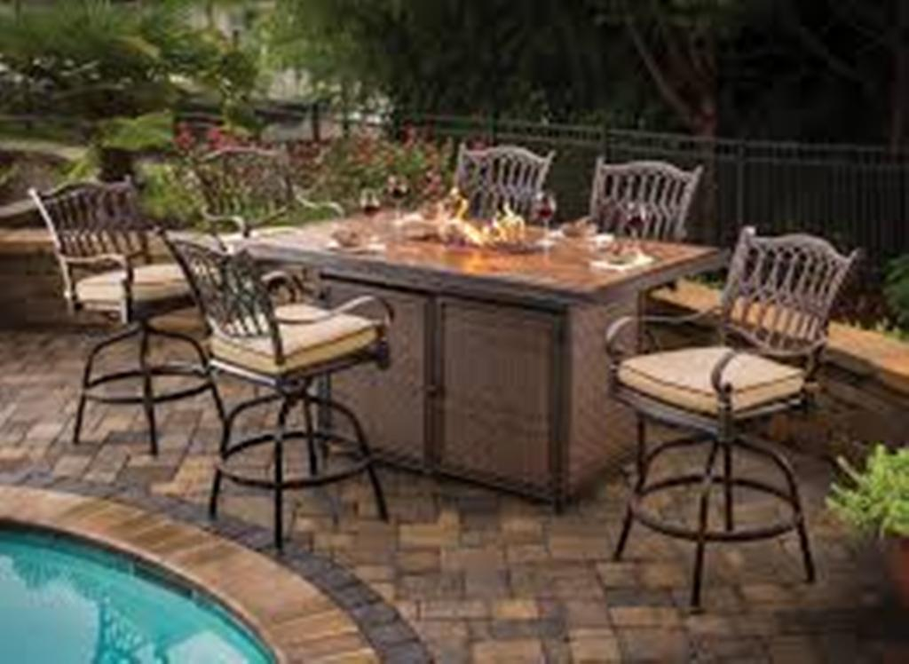 Image of: Fire pit Dining Table Set for 8