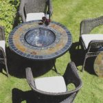 Fire pit Dining Table Sets for 6
