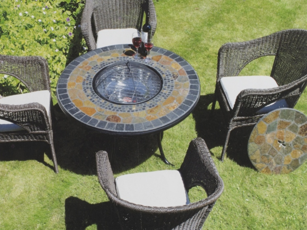 Picture of: Fire pit Dining Table Sets for 6