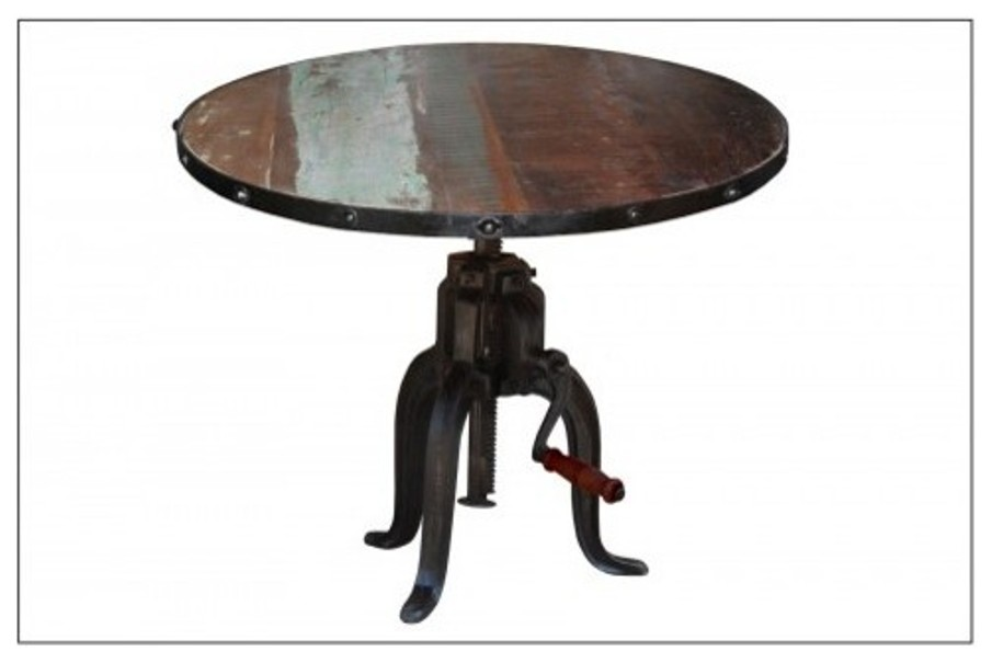 Picture of: Folding Round Table With Wheel