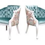 French Accent Chair And Ottoman