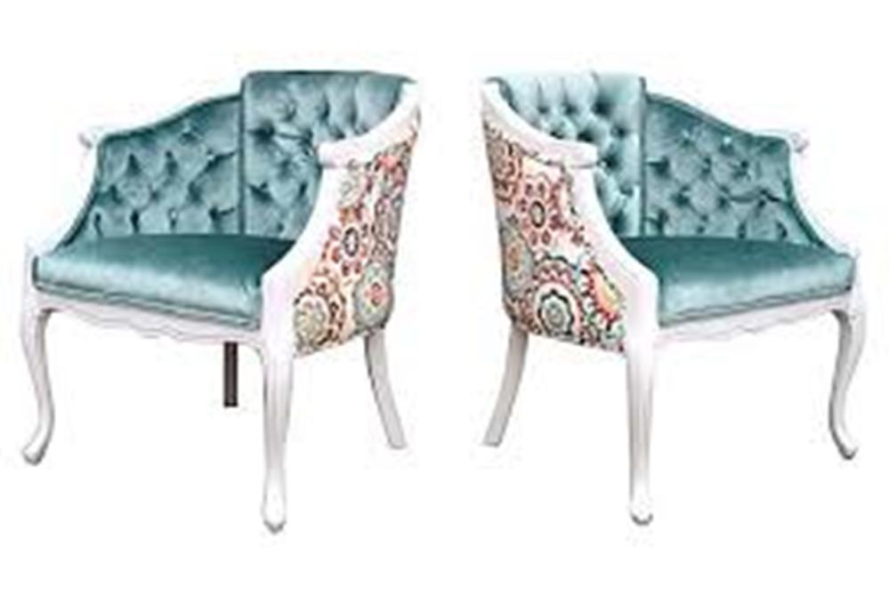 Image of: French Accent Chair and Ottoman