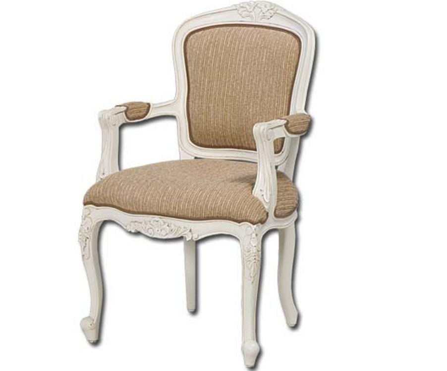 Image of: French Accent Chair with Ottoman