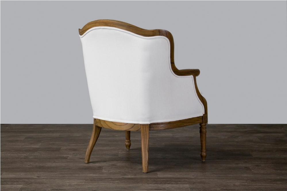 Image of: French Accent Chair with Wooden Arms
