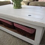 Furniture Distressed White Coffee Table
