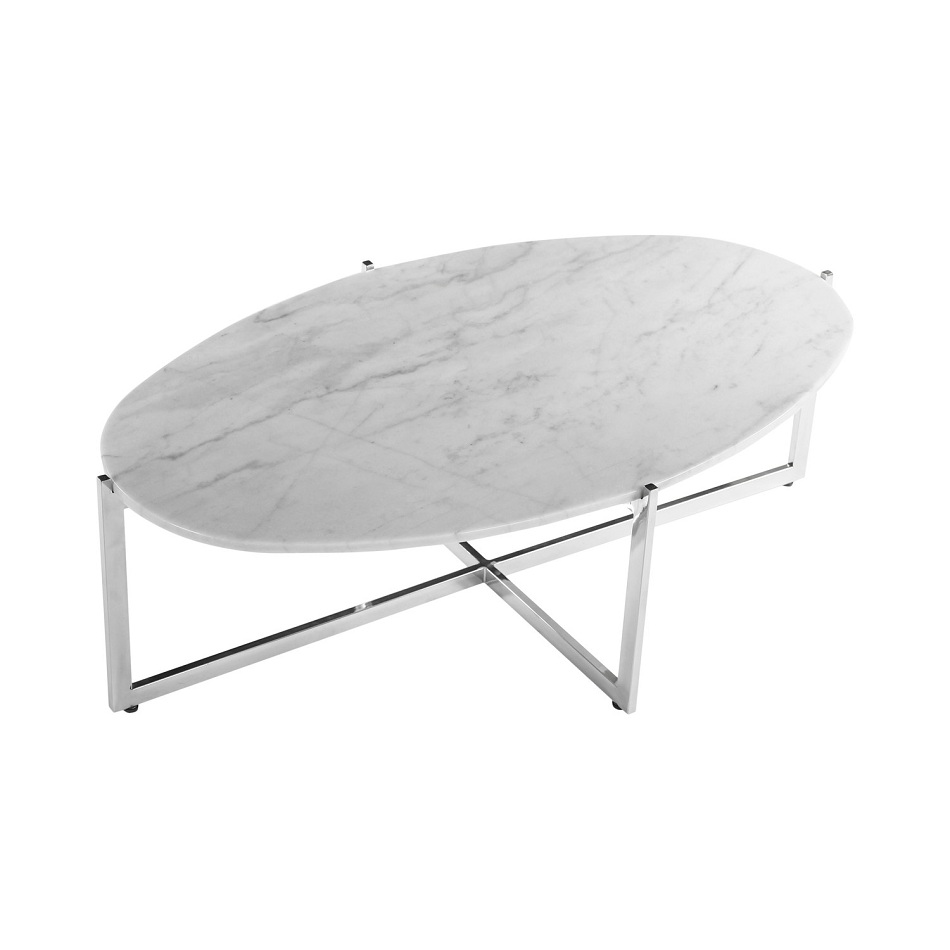 Furniture Oval Marble Coffee Table