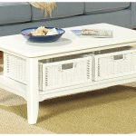 Gallery Distressed White Coffee Table