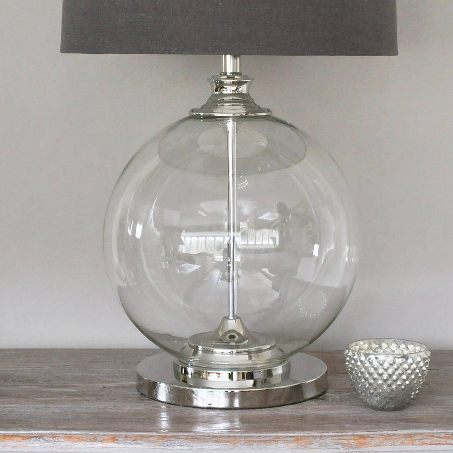 Image of: Glass Ball Table Lamp Ideas