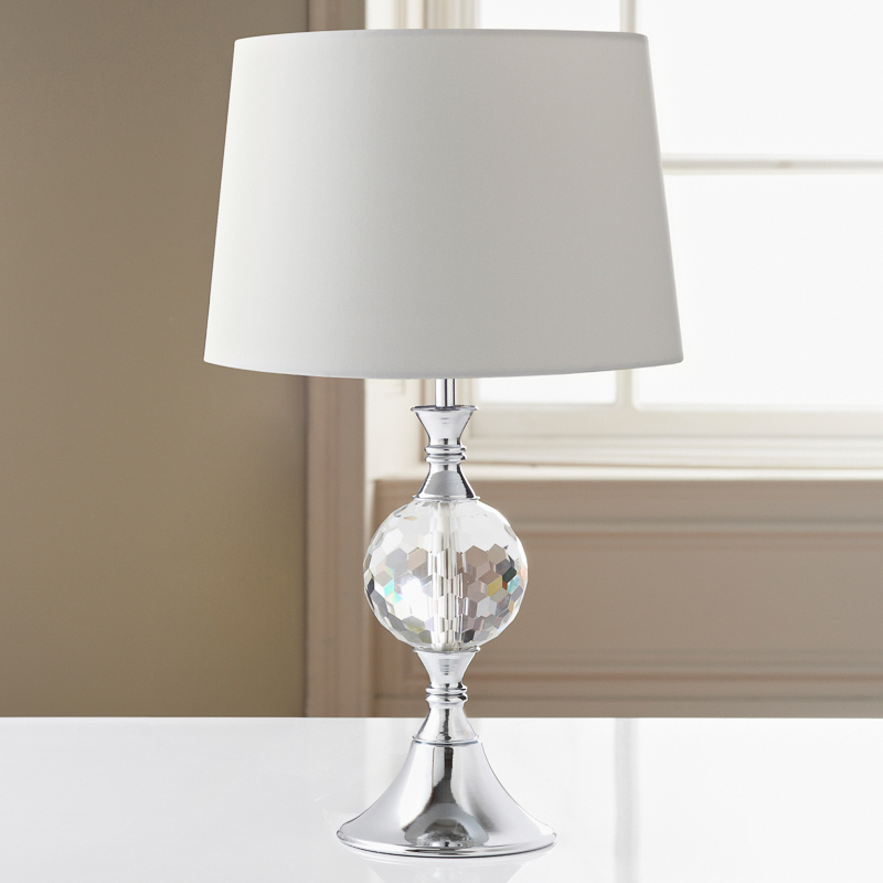 Image of: Glass Ball Table Lamp Shade