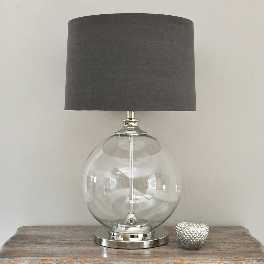 Image of: Glass Ball Table Lamp