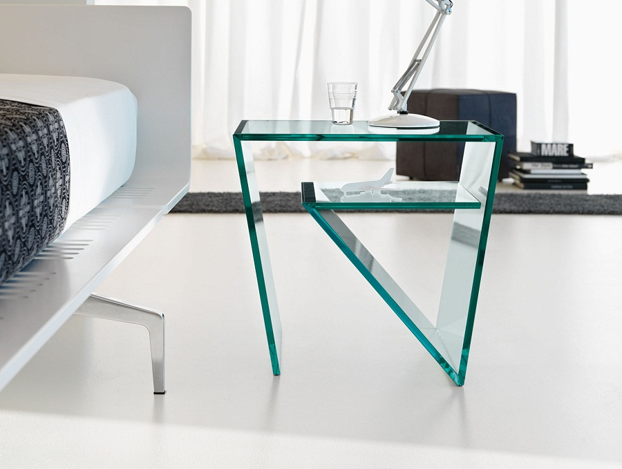 Image of: Glass Bedside Table Shapes