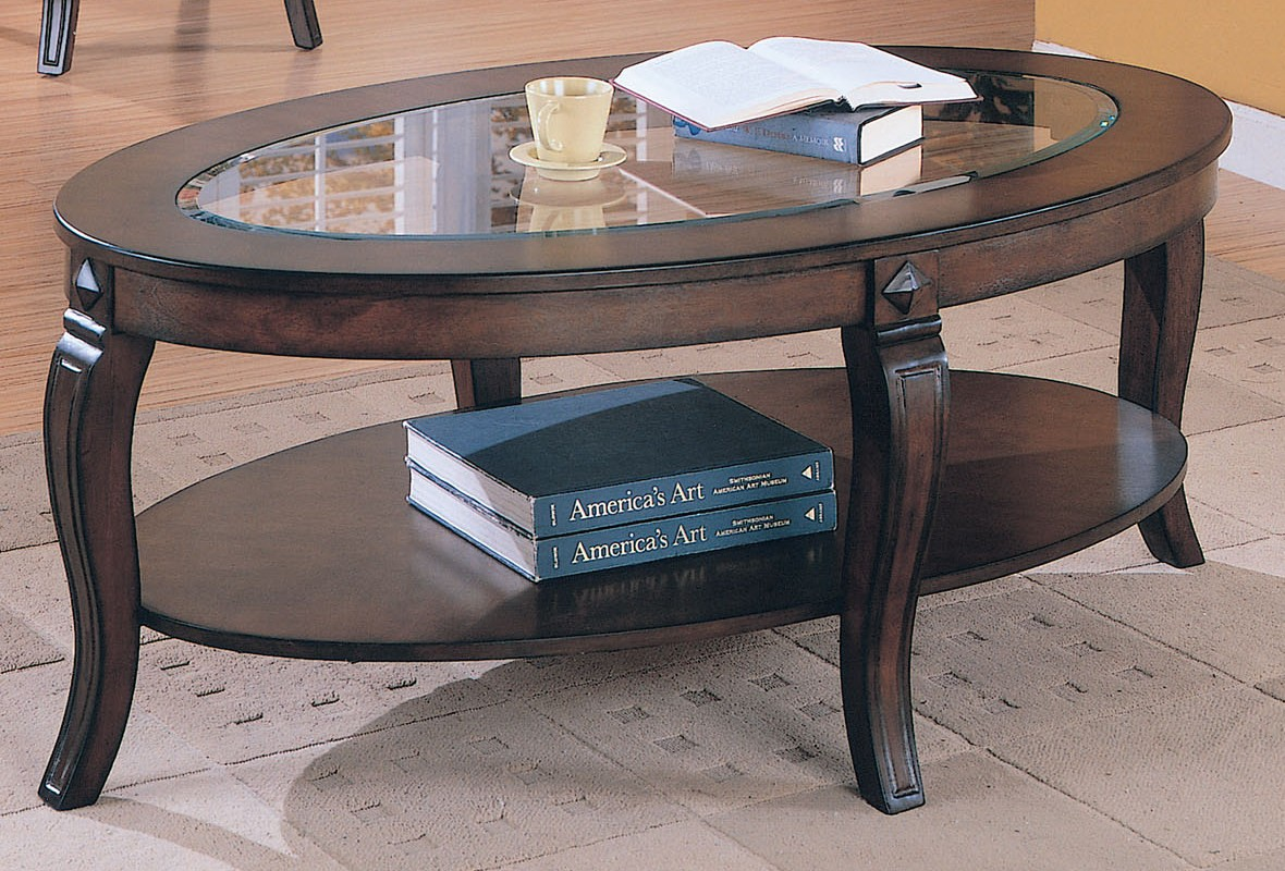 Picture of: Glass Oval Coffee Table DIY