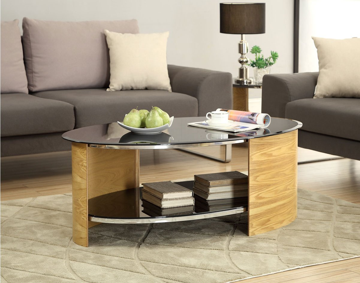 Picture of: Glass Oval Coffee Table Product
