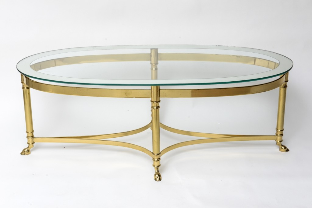 Glass Oval Coffee Table Top