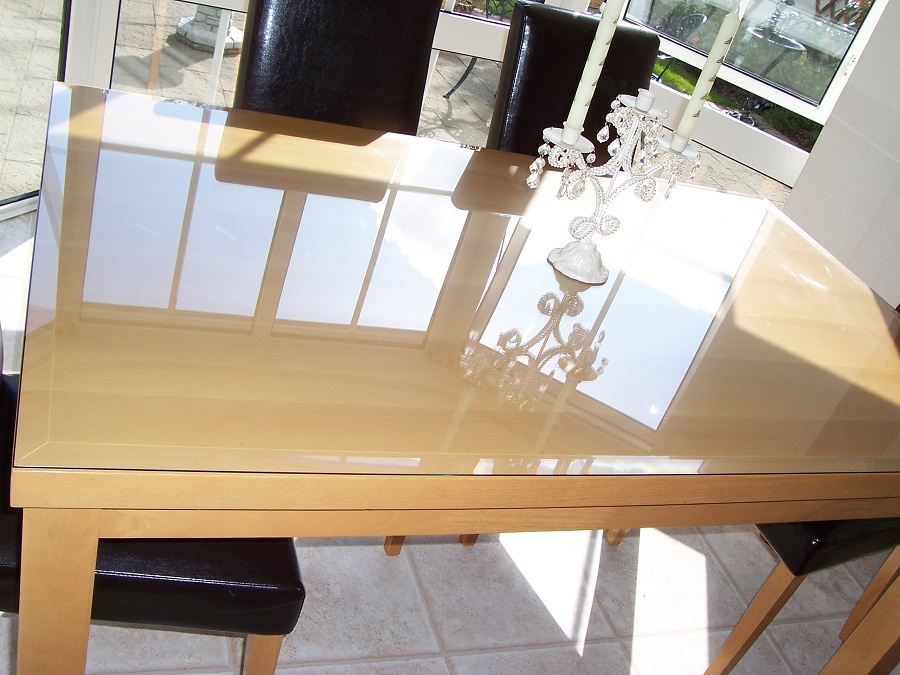 Picture of: Glass Table Top Protector Clear