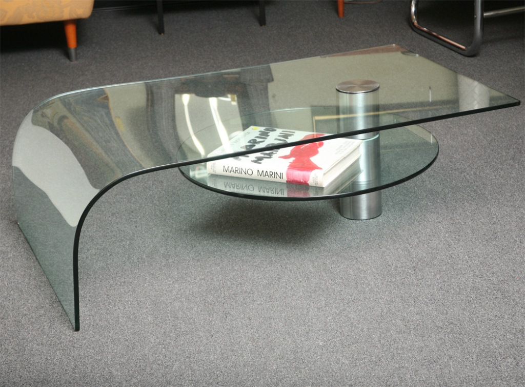 Picture of: Glass Waterfall Coffee Table Books
