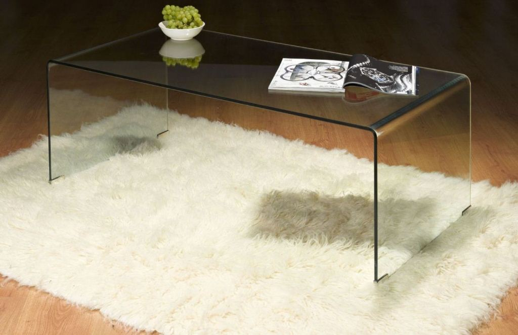 Picture of: Glass Waterfall Coffee Table Decorating
